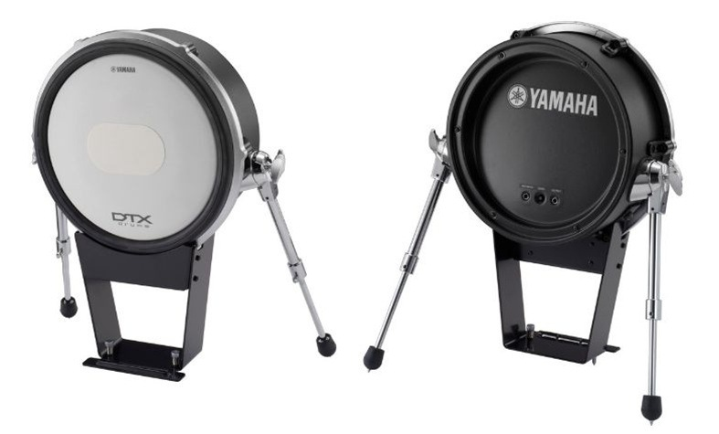 new yamaha kp125w white electronic kick drum trigger pad